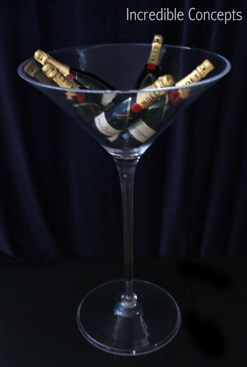 Incredible Group Large Acrylic Martini And Champagne Glasses