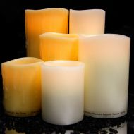 Grouped LED Candles of Varying Sizes and Colours