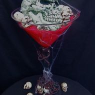 Halloween Themed Martini Glass