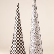 Brocade and Chequered cone covers
