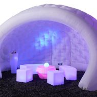 Inflatable Igloo Featuring Glow Furniture