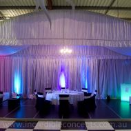 Silk draped Marquee
